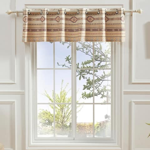The Curated Nomad San Carlos Tan Grommet-top Window Valance