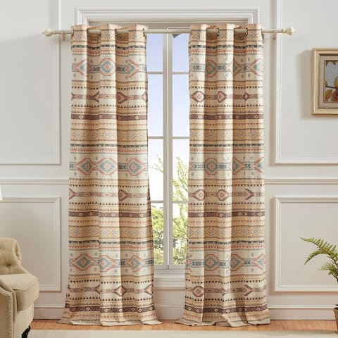 The Curated Nomad San Carlos Grommet-top Curtain Panel Pair (Set of 2)