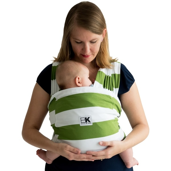 Shop Baby K Tan Patterned Baby Wrap Carrier Free Shipping On