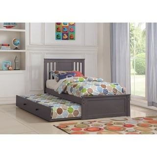 Twin Princeton Bed in Slate Grey with Twin Trundle
