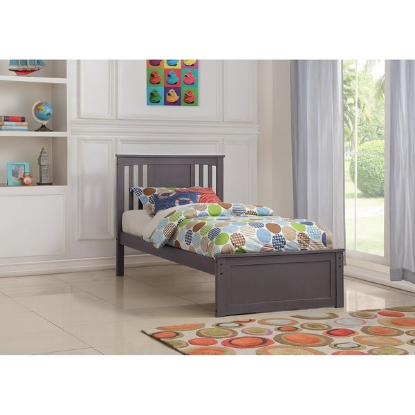 Twin Princeton Bed in Slate Grey