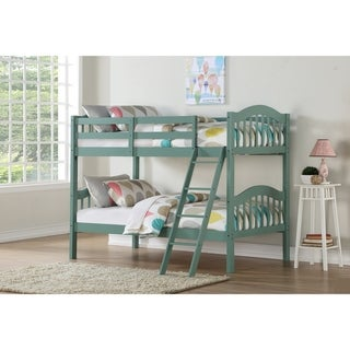 Twin over Twin Arch Mission Bunk Bed in Mint