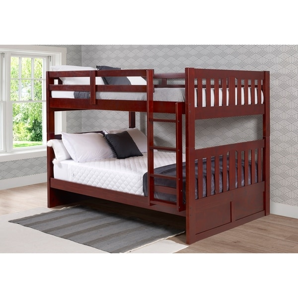 Full over Full Mission Bunk Bed in Merlot