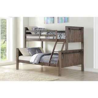 Link to Twin over Full Barn Door Bunk Bed in Brushed Shadow Similar Items in Kids' & Toddler Furniture