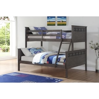 Twin over Full Barn Panel Bunk Bed in Graphite