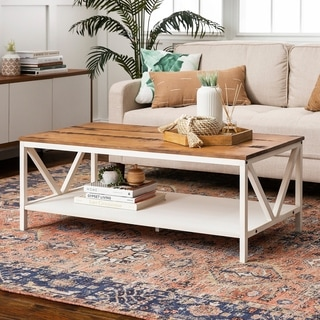 """The Gray Barn 48"""" Distressed Coffee Table - 48 x 24 x 18H"""