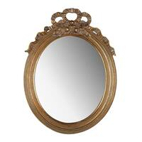 Marquis 19-inch Gold Leaf Small Round Mirror
