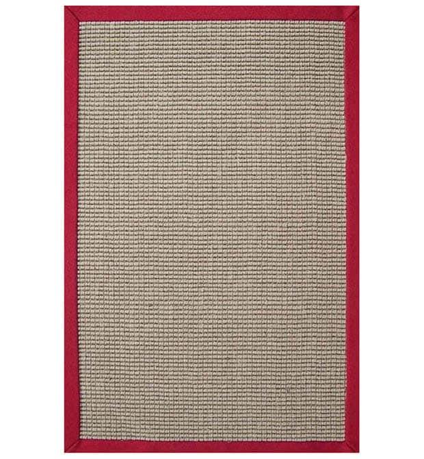 Hand-woven Sisal Red Rug (8' x 10')