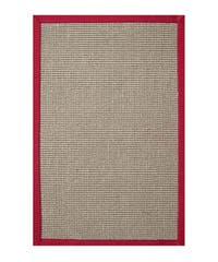 Hand-woven Sisal Red Rug (8' x 10') - 8' x 10'
