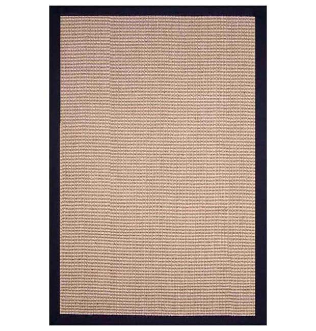 Hand-woven Jute Black Rug (8' x 10')
