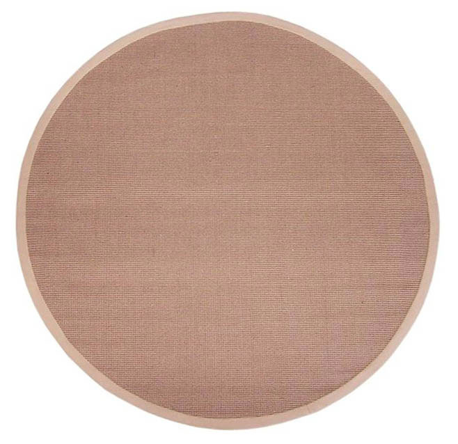 Hand Woven Sisal Beige Rug 6 Round Free Shipping