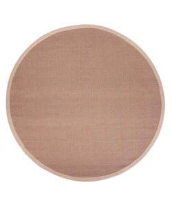 Hand-woven Sisal Beige Rug (6' Round)