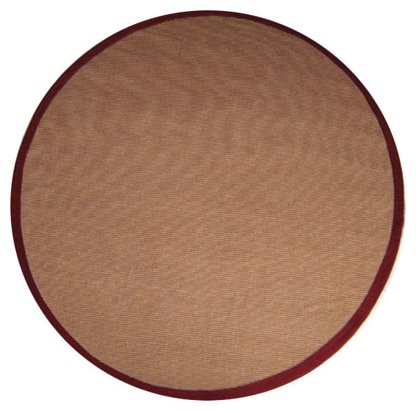 Hand-woven Sisal Red Rug (6' Round)