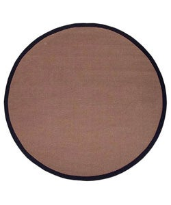Hand-woven Sisal Black Rug (6' Round)