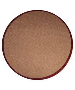 Hand-woven Sisal Red Rug (8' Round)