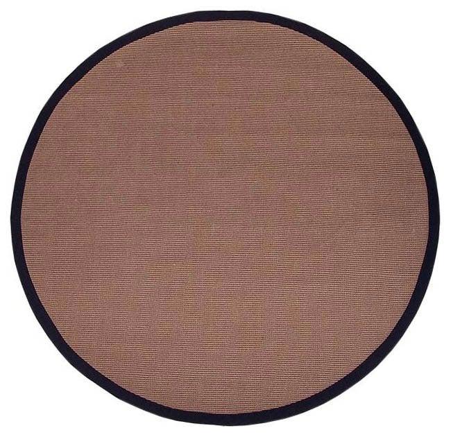 Hand-woven Sisal Black Rug (8' Round)