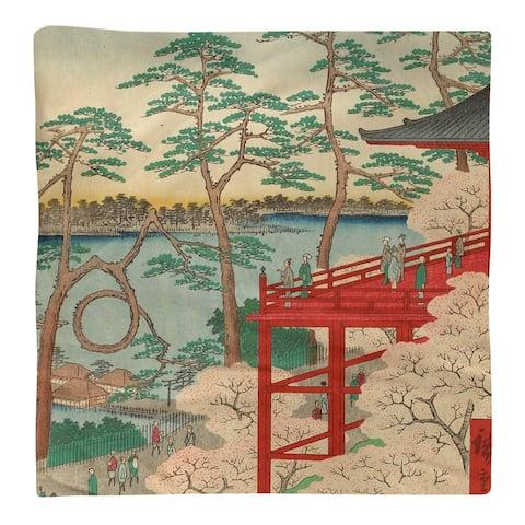 Kiyomizu Hall and Shinobazu Pond at Ueno Napkin
