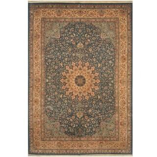 Handmade One-of-a-Kind Tabriz Wool and Silk Rug (Iran) - 9'9 x 14'4