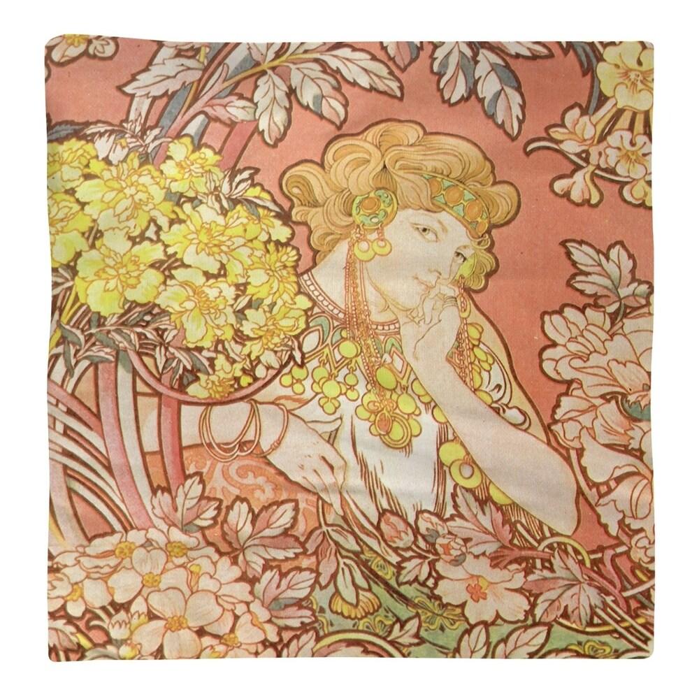 Shop Woman Among Flowers Napkin - Overstock - 28523307