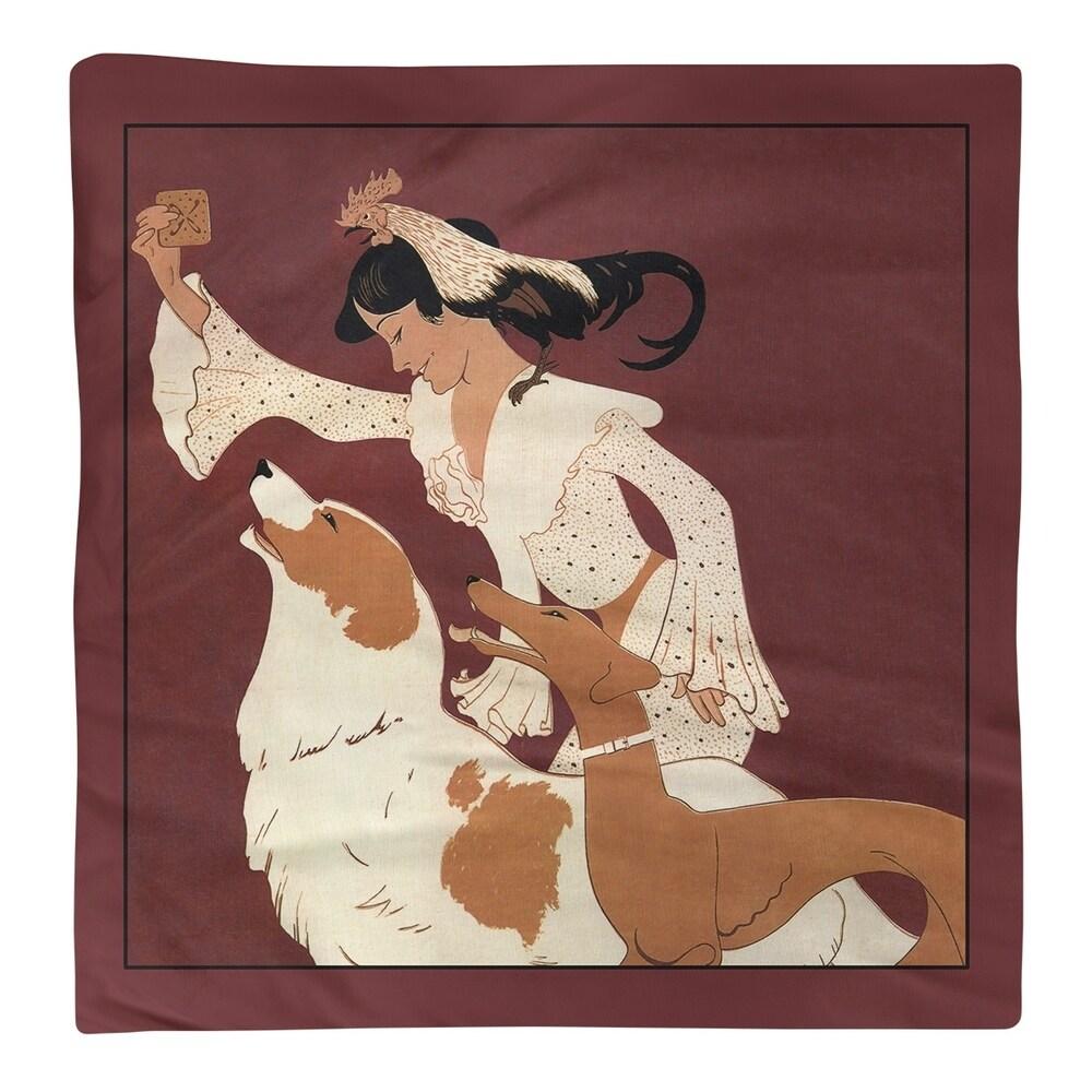Shop Vintage Dog Biscuit Poster Napkin - Overstock - 28523320