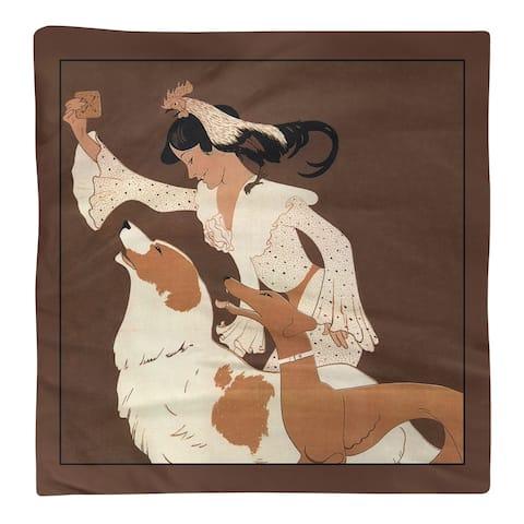 Vintage Dog Biscuit Poster Napkin