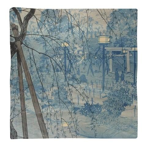 Misty Evening at Shinobazu Pond Napkin
