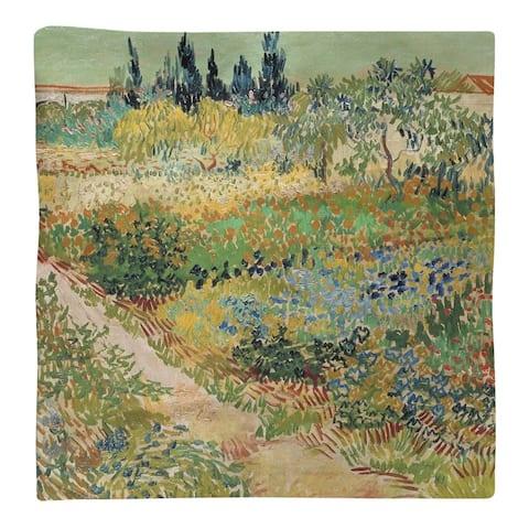 Bluhender Garten mit Pfad Napkin