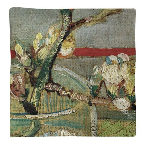 Blossoming Almond Branch in a Glass Napkin