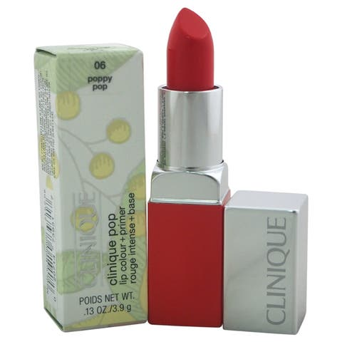 Clinique Pop Lip Colour + Primer # 06 Poppy Pop Clinique Women's 0.13-ounce Lipstick