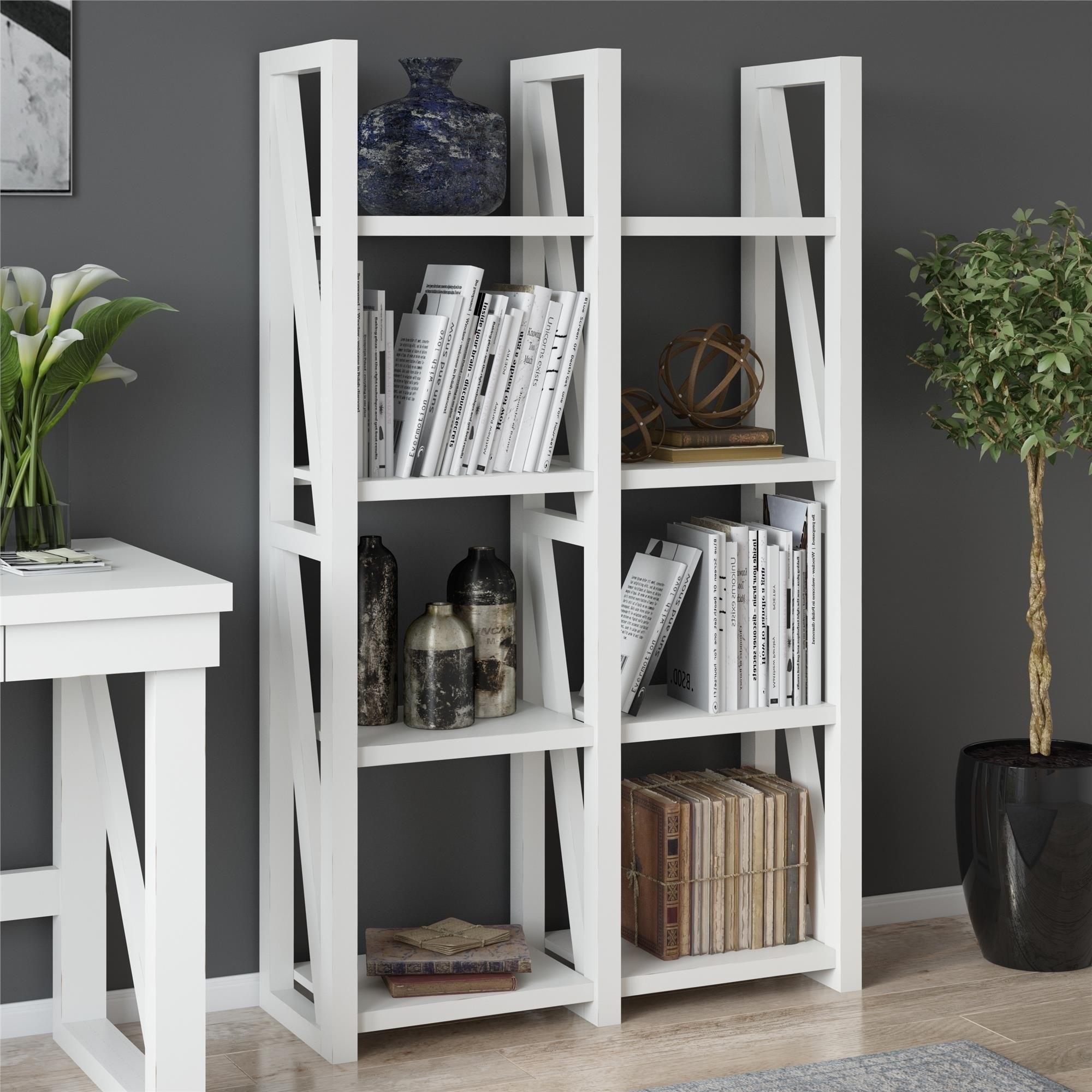 Avenue Greene Livingston White Bookcase Room Divider