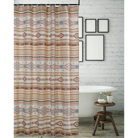 The Curated Nomad San Carlos Tan Shower Curtain