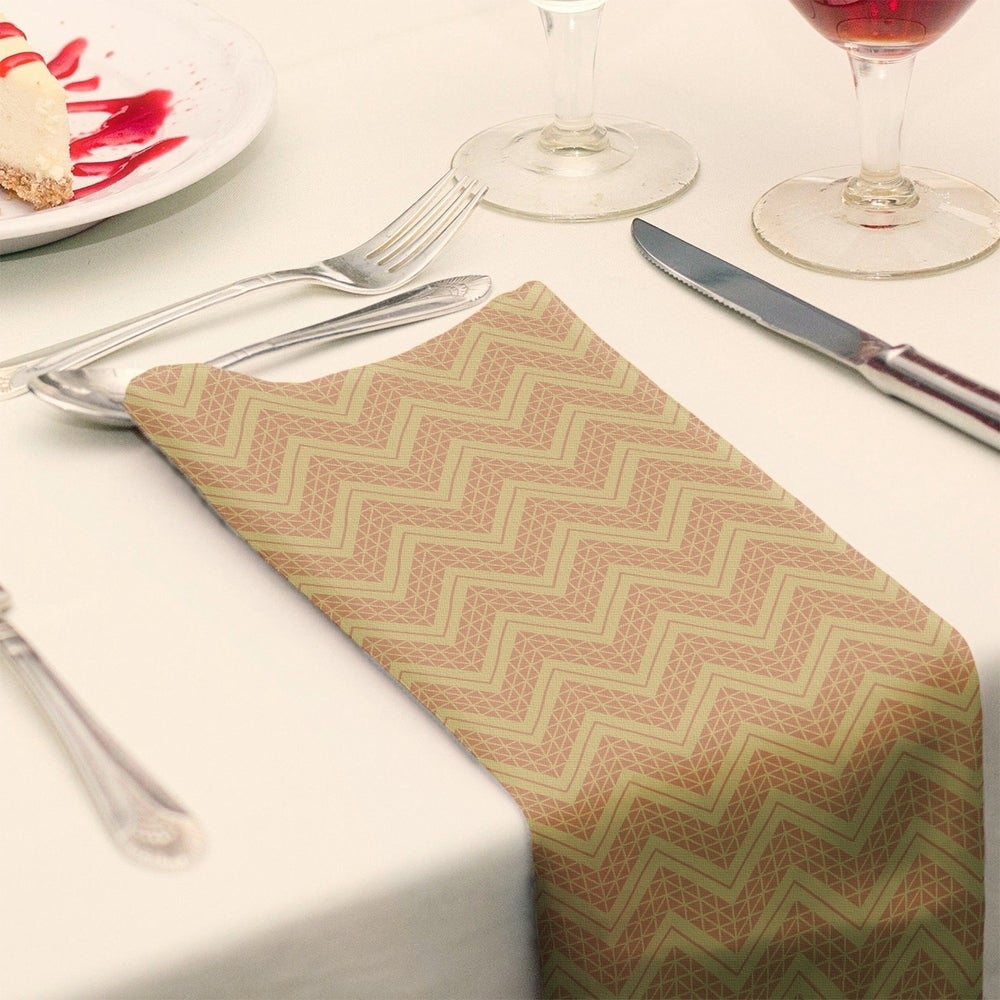 Shop Two Color Hand Drawn Chevrons Napkin - Overstock - 28523534