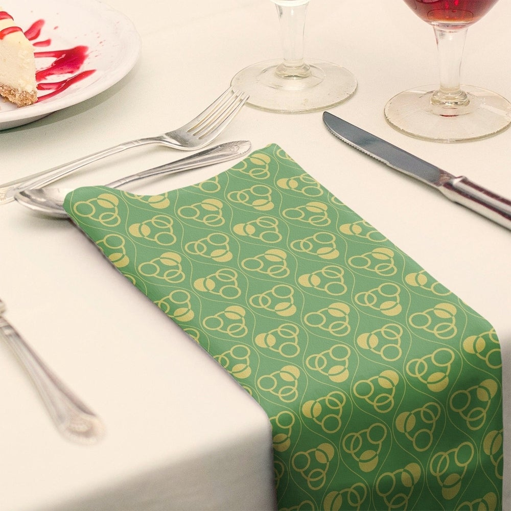 Shop Full Color Circles & Waves Napkin - Overstock - 28523546