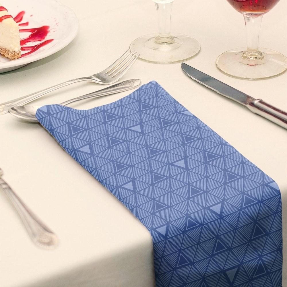 Shop Monochrome Hand Drawn Triangle Pattern Napkin - Overstock - 28523557