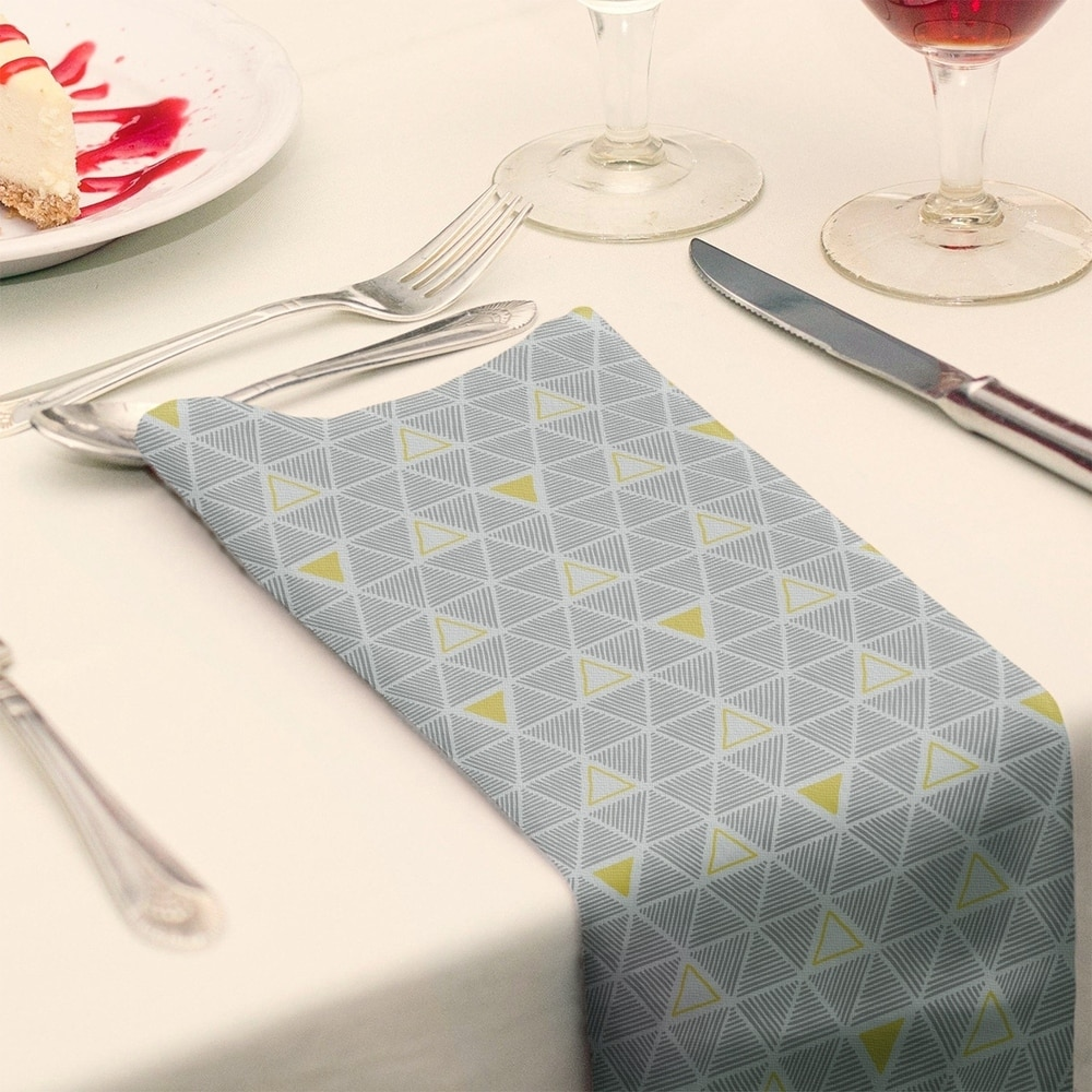 Shop Color Accent Hand Drawn Triangles Napkin - Overstock - 28523559