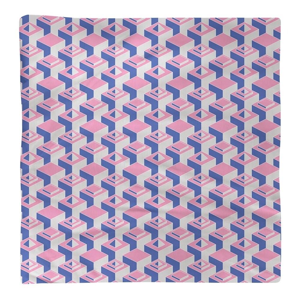 Shop Color Contrast Skyscrapers Pattern Napkin - Overstock - 28523566