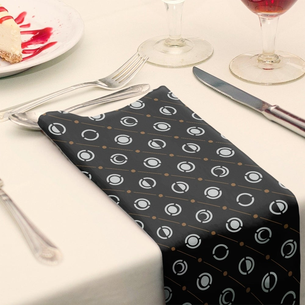 Shop Black Color Accent Moon Phases Napkin - Overstock - 28523574
