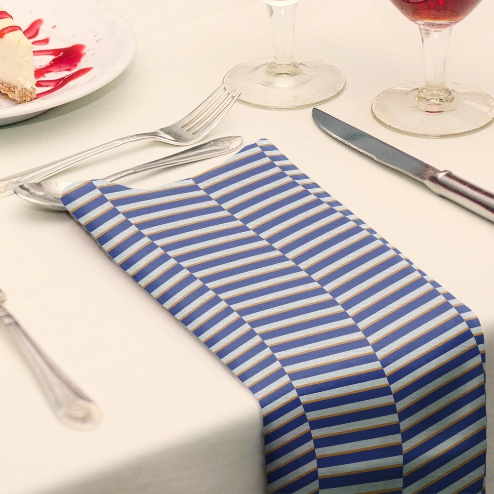 Shop Two Color Fractured Stripes Napkin - Overstock - 28523581