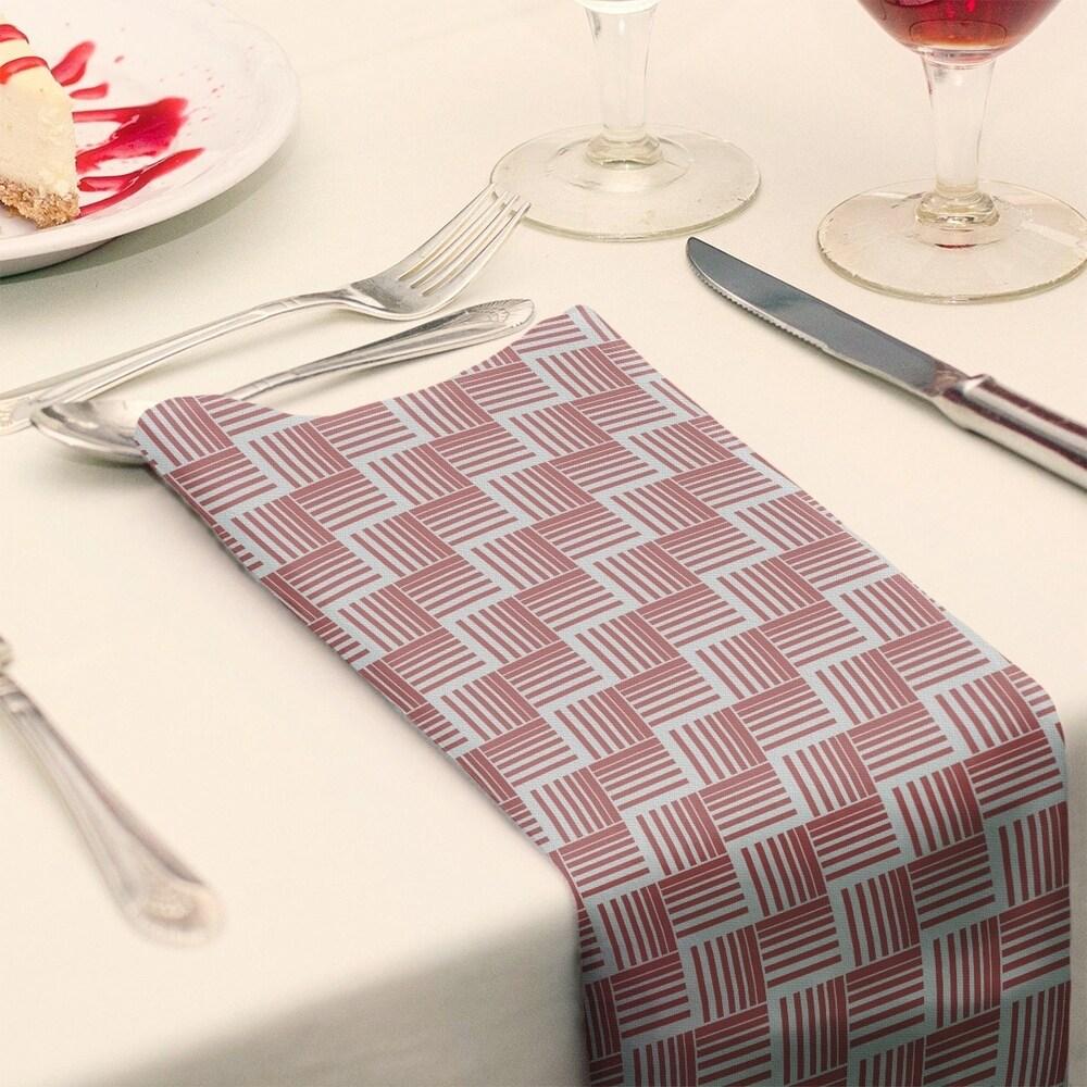Shop Classic Basketweave Stripes Napkin - Overstock - 28523585