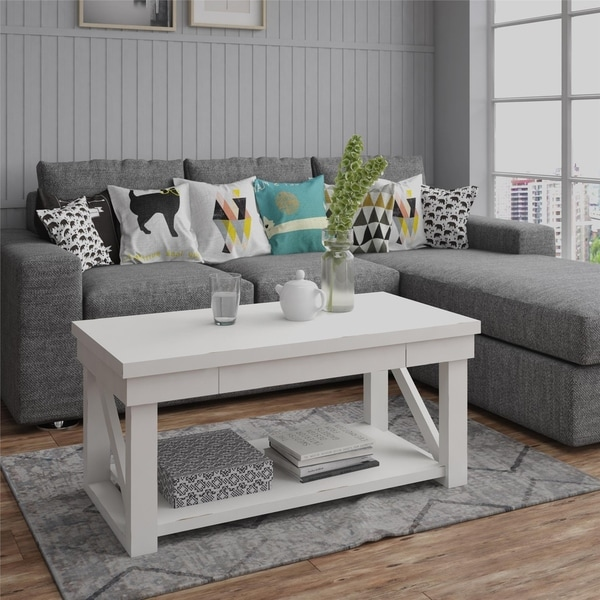 Overstock White Coffee Table.Shop Avenue Greene Livingston White Coffee Table Free Shipping