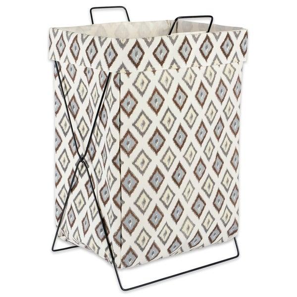 DII Diamond Ikat Metal Frame Laundry Basket