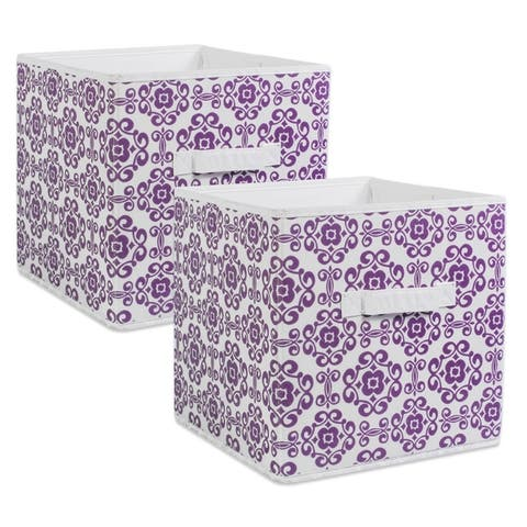 DII Nonwoven Polyester Cube Scroll (Set of 2)
