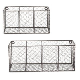 DII Wall Mount Chicken Wire Basket(Set of 2) Small