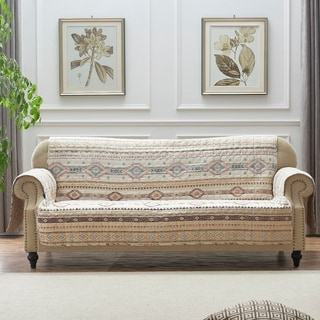 The Curated Nomad San Carlos Tan Reversible Sofa/Couch Protector