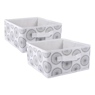 Link to DII Nonwoven Polyester Bin Starburst Gray Square Medium  (Set of 2) Similar Items in Storage & Organization