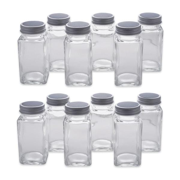 DII 12-Piece Spice Jar Set With Chalkboard Labels - Tall Spice Jars