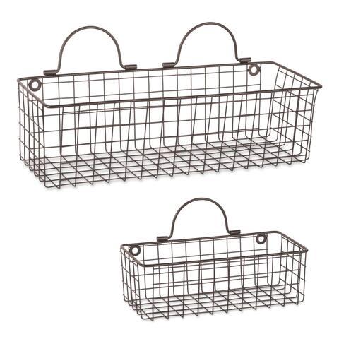 DII Wire Wall Basket(Set of 2) Grey