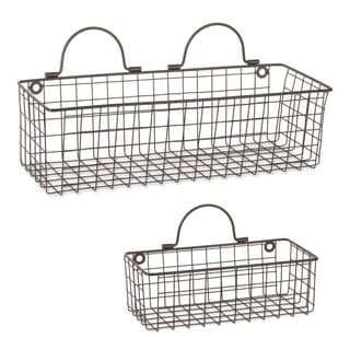 DII Wire Wall Basket(Set of 2) Grey