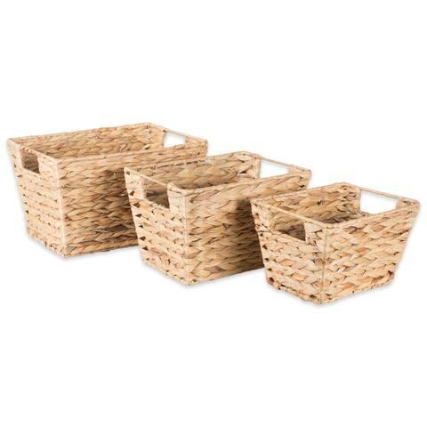 Porch & Den Ridgeview Water Hyacinth Basket (Set of 5)