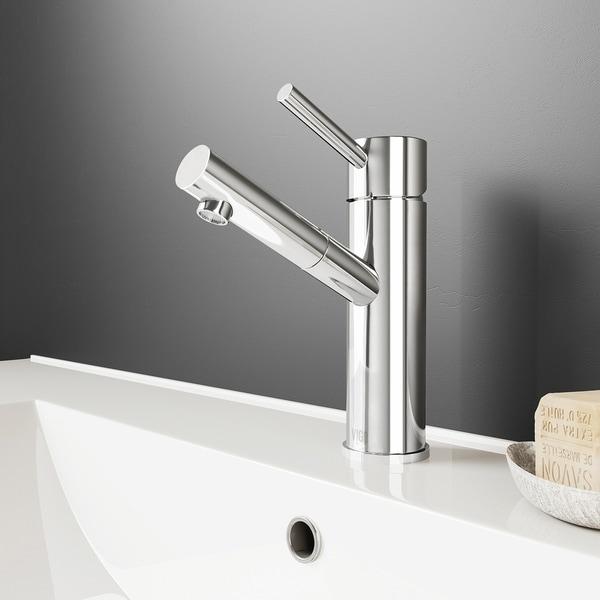VIGO Noma Chrome Single Hole Bathroom Faucet